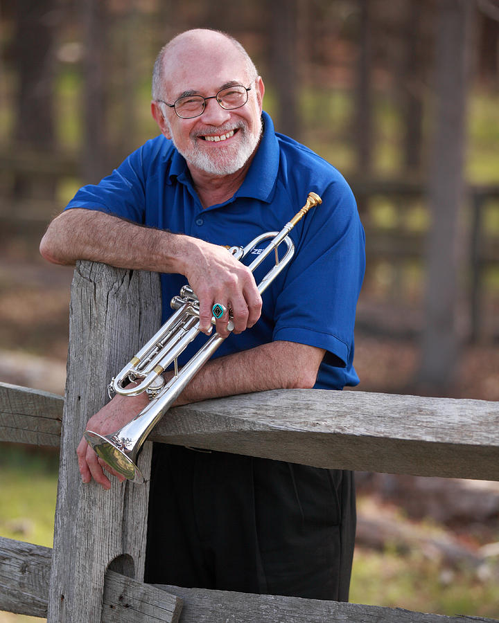 Trumpet Photograph - Mike Vax Professional Trumpet Player Photographic Print 3766.02 by M K  Miller