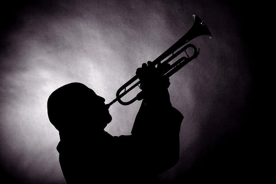 Trumpet Photograph - Mike Vax Professional Trumpet Player Photographic Print 3768.02 by M K  Miller