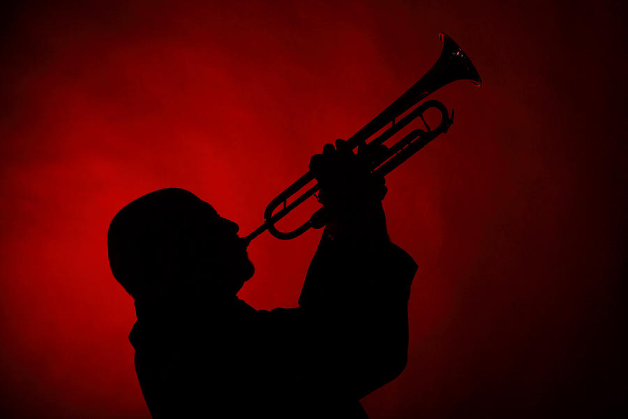 Trumpet Photograph - Mike Vax Professional Trumpet Player Photographic Print 3769.02 by M K  Miller