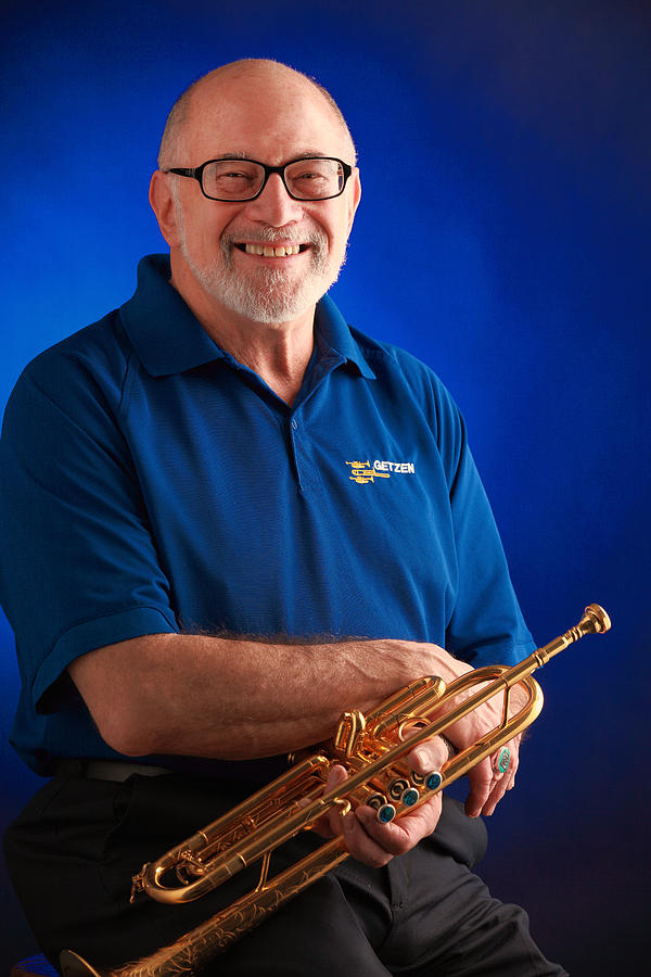 Trumpet Photograph - Mike Vax Professional Trumpet Player Photographic Print 3771.02 by M K  Miller