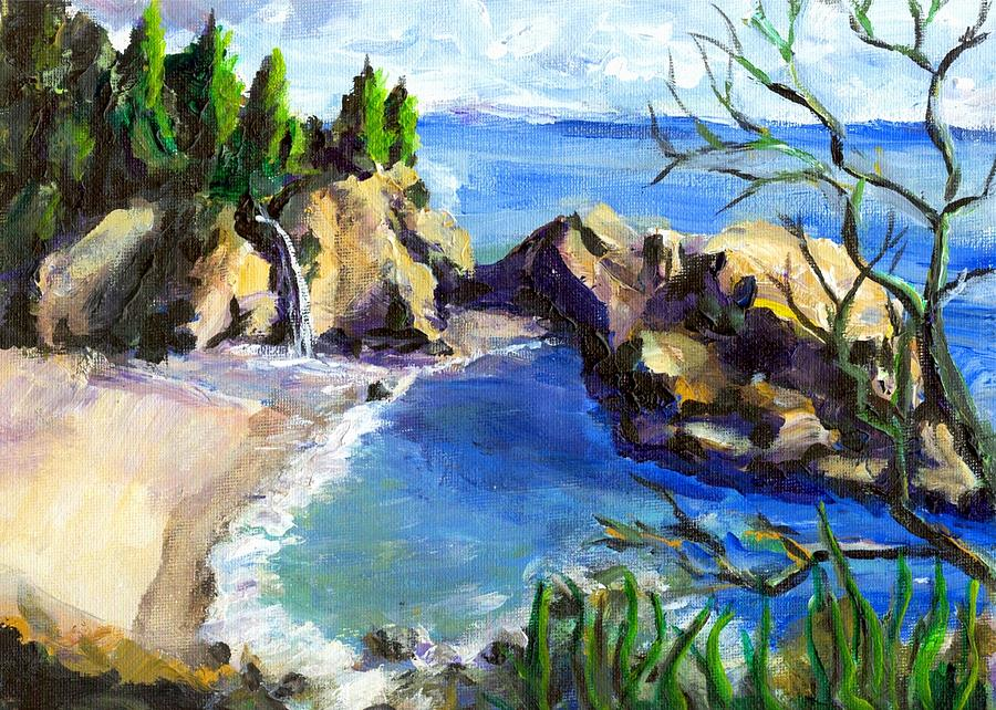 Waterfall Painting - Mikes Beach by Randy Sprout