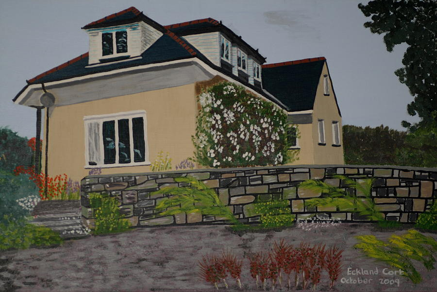 Mansion Painting - Mikes Mansion by Eckland Cort