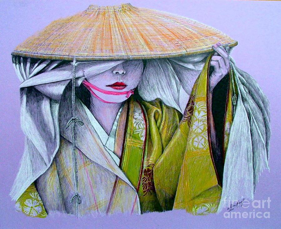 Geisha Drawing - Miki-san by Dan Hausel