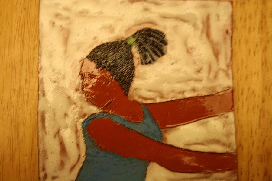 Jesus Ceramic Art - Mildred - Tile by Gloria Ssali
