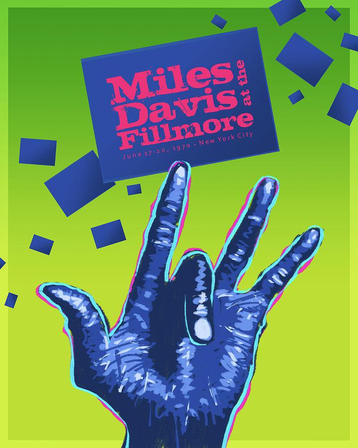 Jazz Digital Art - Miles At The Fillmore by Mura Barker