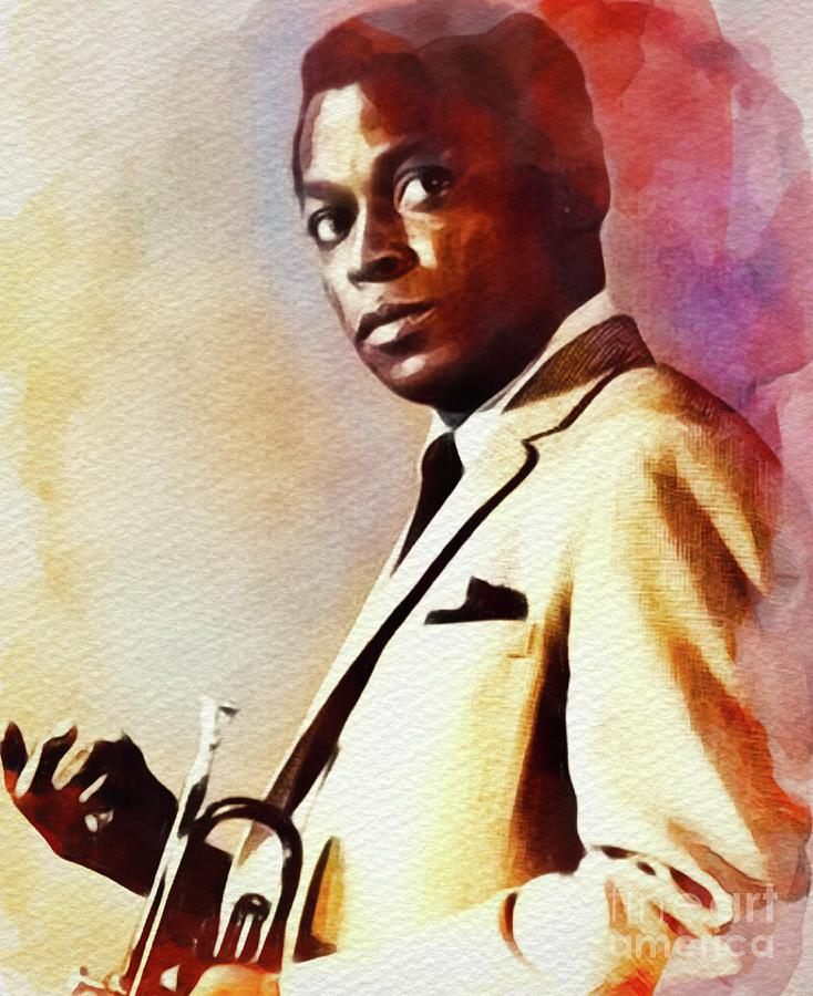 Miles Davis, Music Legend Painting