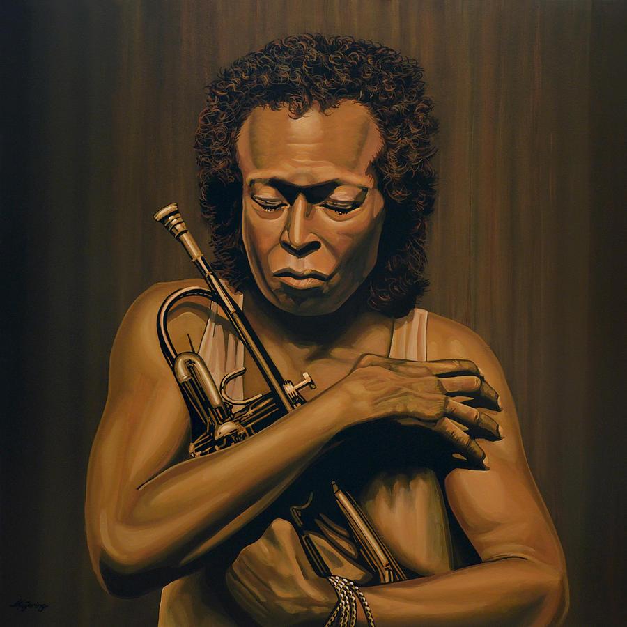 Miles Davis Painting - Miles Davis Painting by Paul Meijering