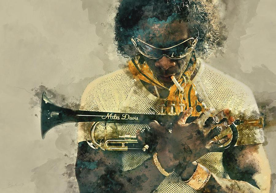 Miles Davis, Portrait Painting