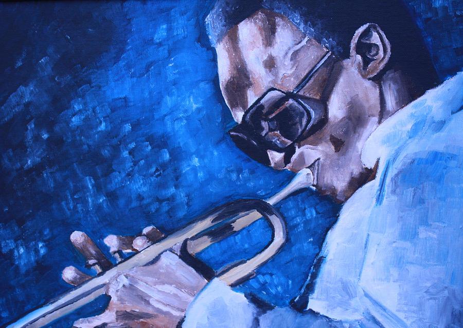 Miles Davis Portrait Painting - Miles Davis Portrait by Mikayla Ziegler