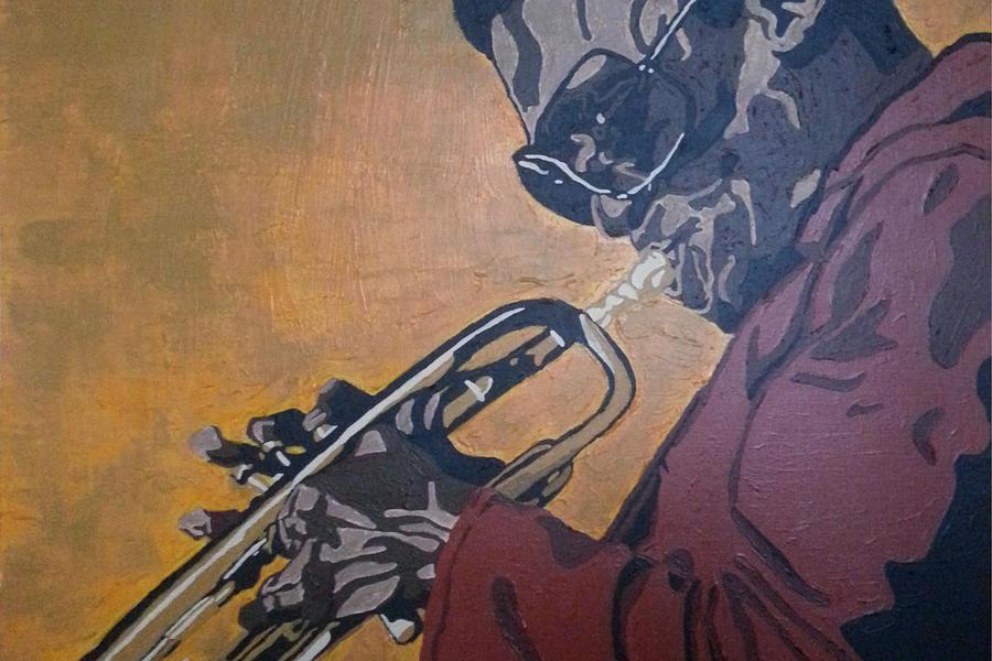 Miles Davis Painting - Miles Davis by Rachel Natalie Rawlins