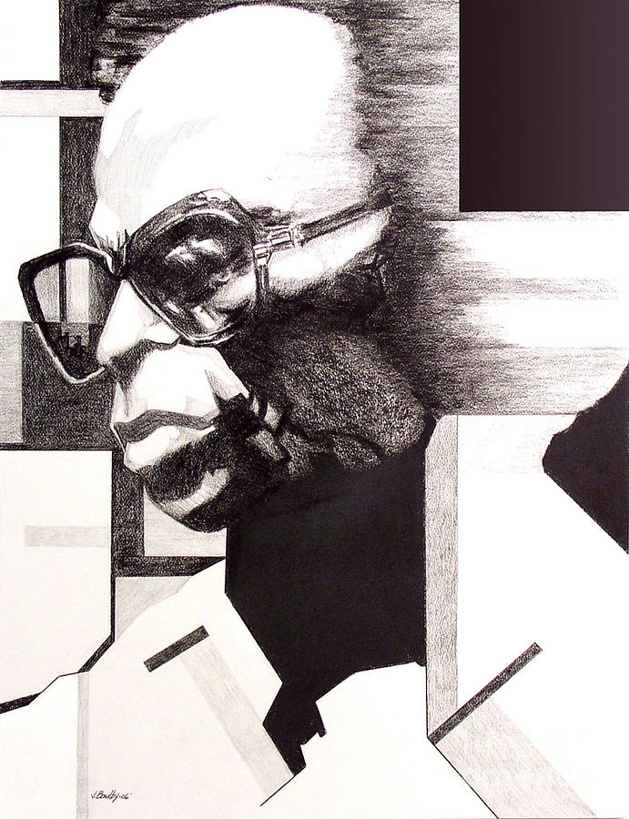 Music Drawing - Miles by Joseph Bowlby