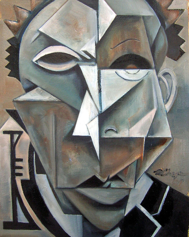 Miles Mask Painting by Martel Chapman