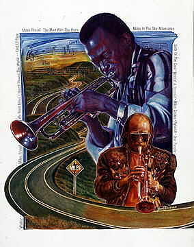 Miles Painting - Miles Then and Now by Buena Johnson