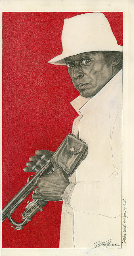 Miles Painting - Miles Through Steel Eyes of the Soul by Buena Johnson