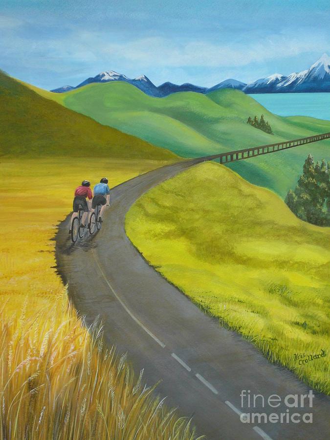 Bicycles Painting - Miles To Go by Kris Crollard
