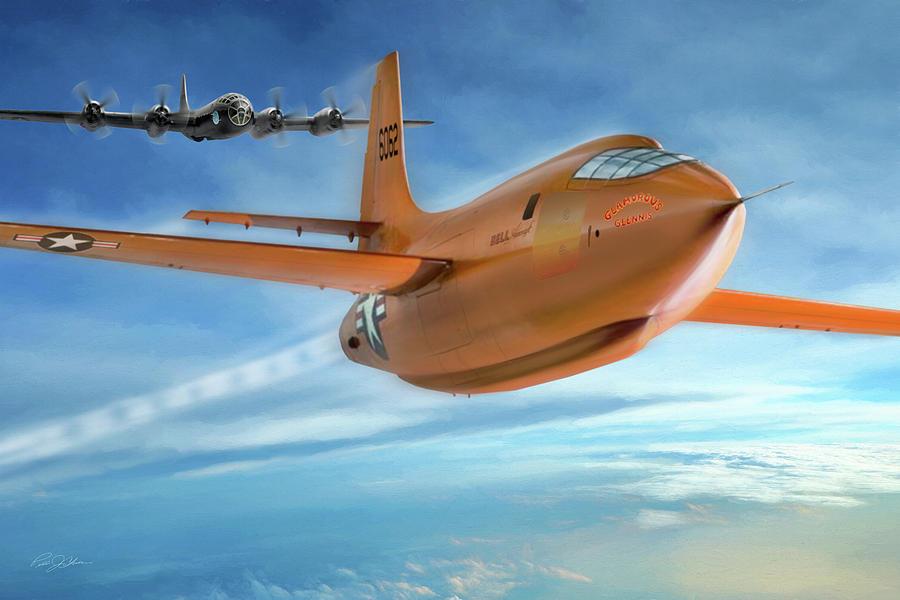 Aviation Digital Art - Milestone Bell X-1 by Peter Chilelli
