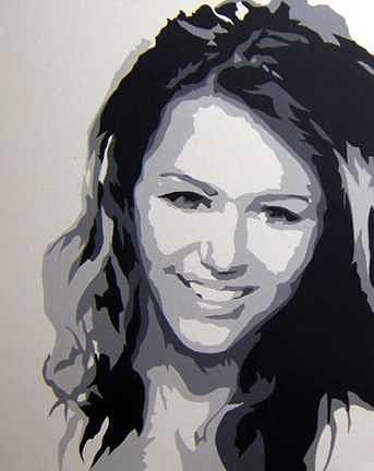 Music Painting - Miley Cyrus Hannah Montana by Michael James Toomy