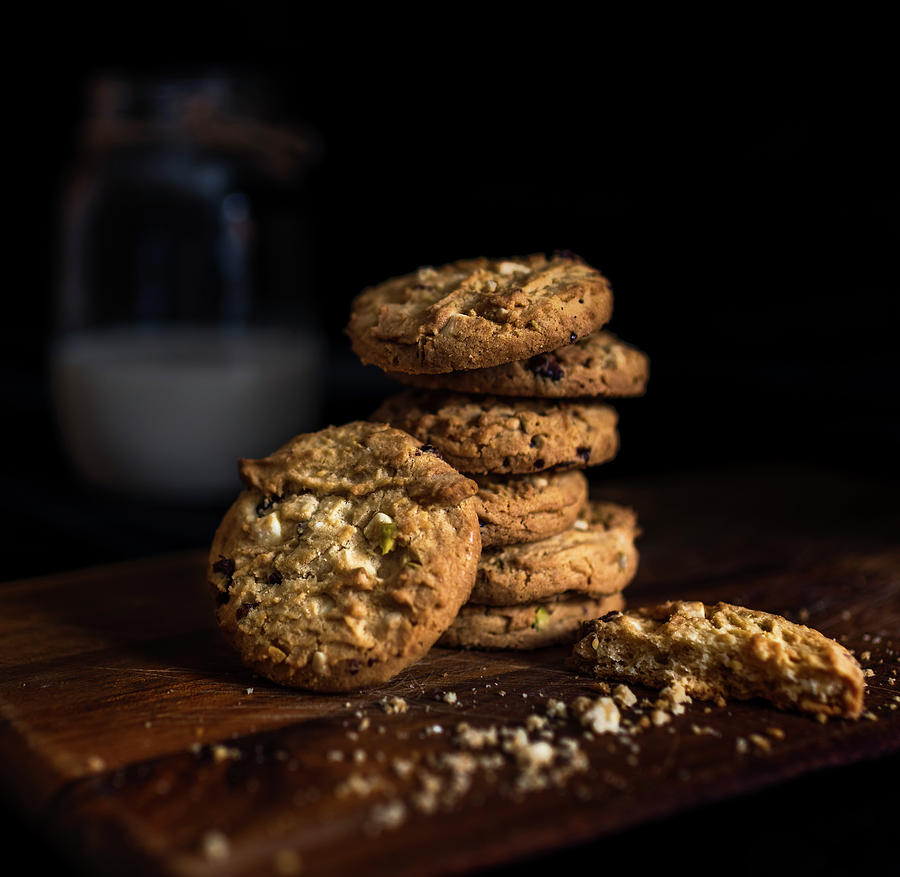 Milk Photograph - Milk and Cookies 2 by Phillips and Phillips
