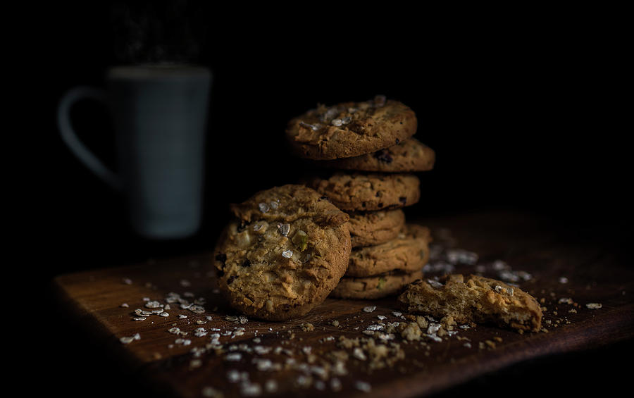 Milk Photograph - Milk and Cookies by Phillips and Phillips
