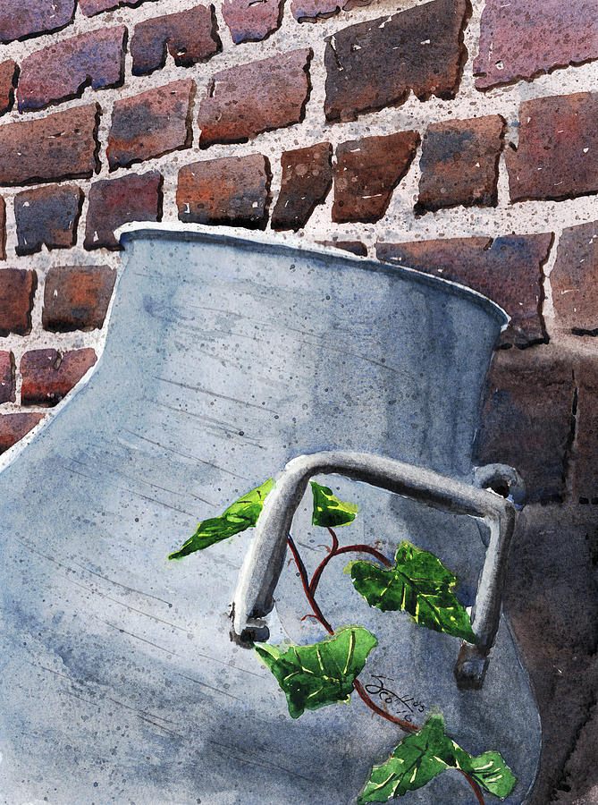 Milk Can Painting - Milk Can by Scott Brown