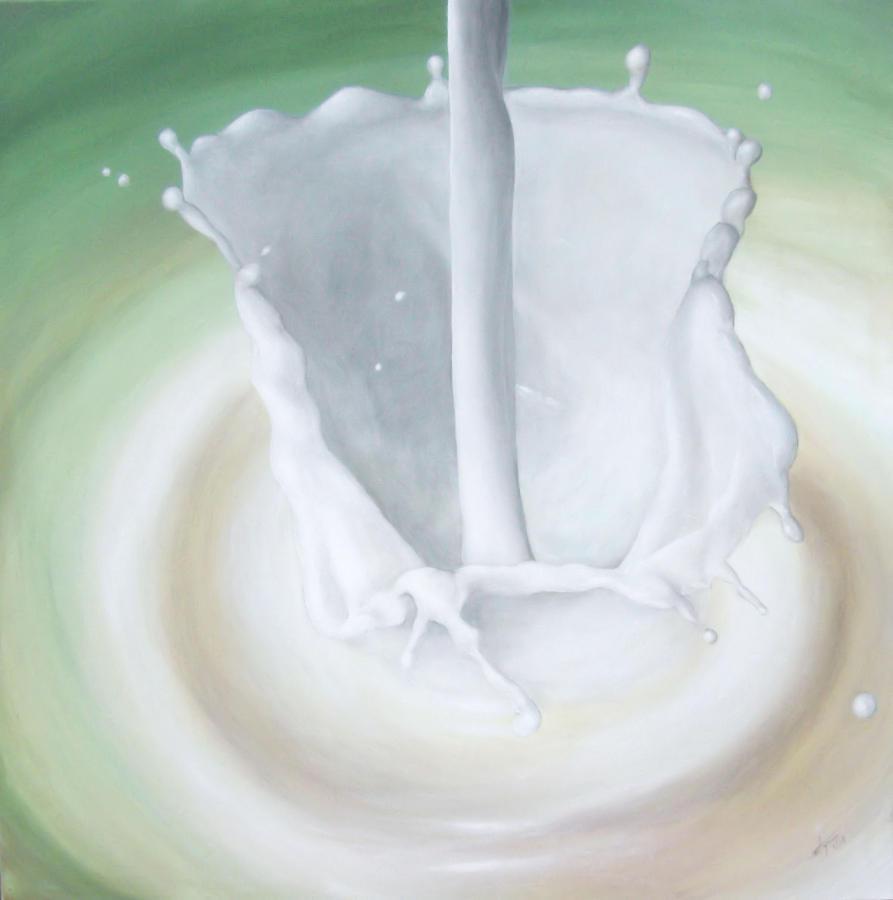 Milk Painting - Milk Pour by Michelle Iglesias