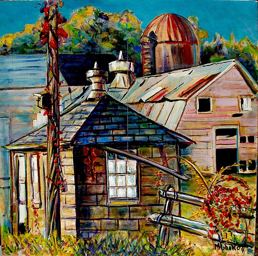 Barns Painting - Milkhouse by Michael Hudak