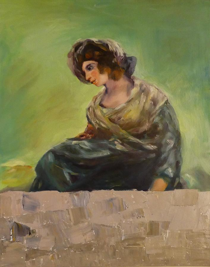 Girl Painting - Milkmaid From Bordeaux After Goya by Irena Jablonski