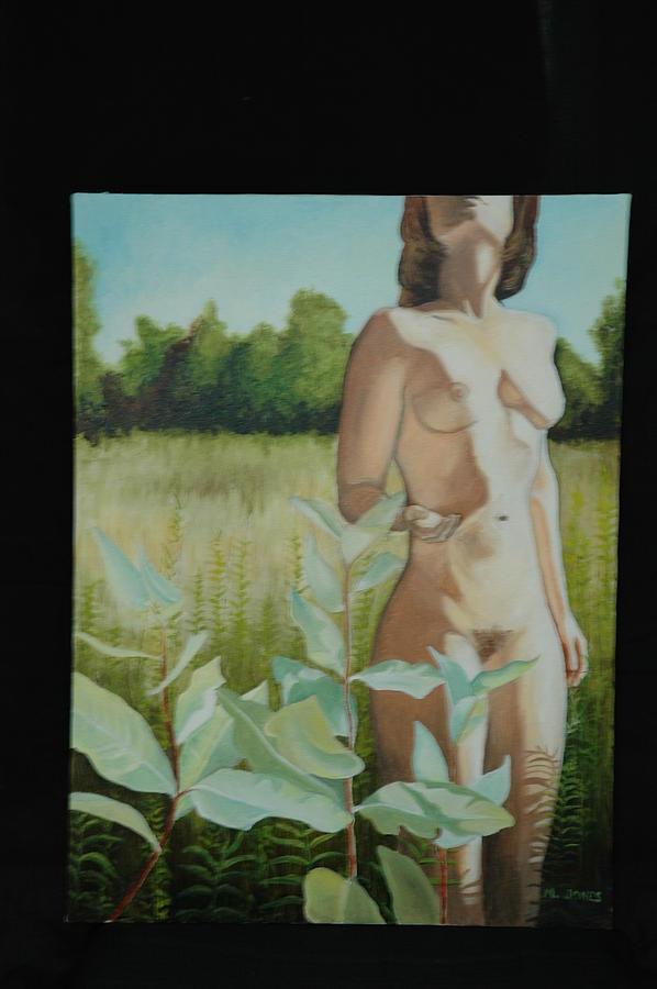 Figurative Painting - Milkweed 1 by Melissa Jones