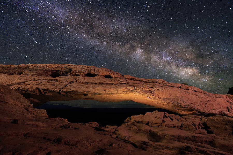 Galaxy Photograph - Milky Way Above Mesa Arch. by Johnny Adolphson