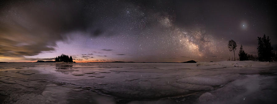 Awakening Photograph - Milky Way at Nautical Twilight by Jakub Sisak