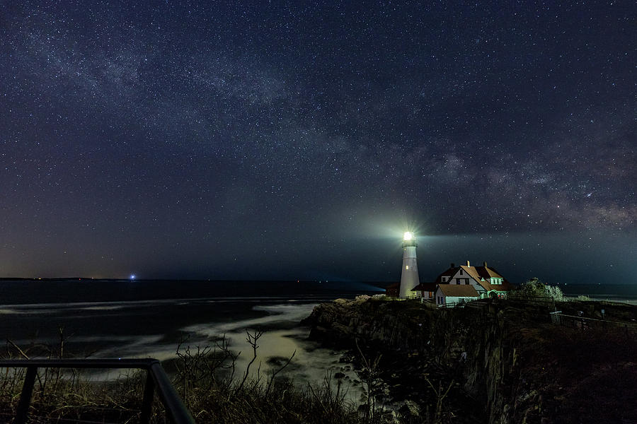Milky Way at Portland Head Light by Darryl Hendricks