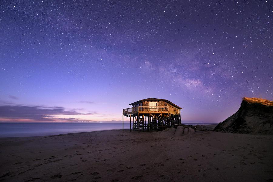 Astro Photograph - Milky Way at Twilight by Jeremy Clinard