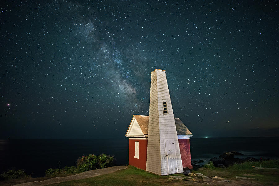 Milky Way Behind Oil House by Patrick Boots