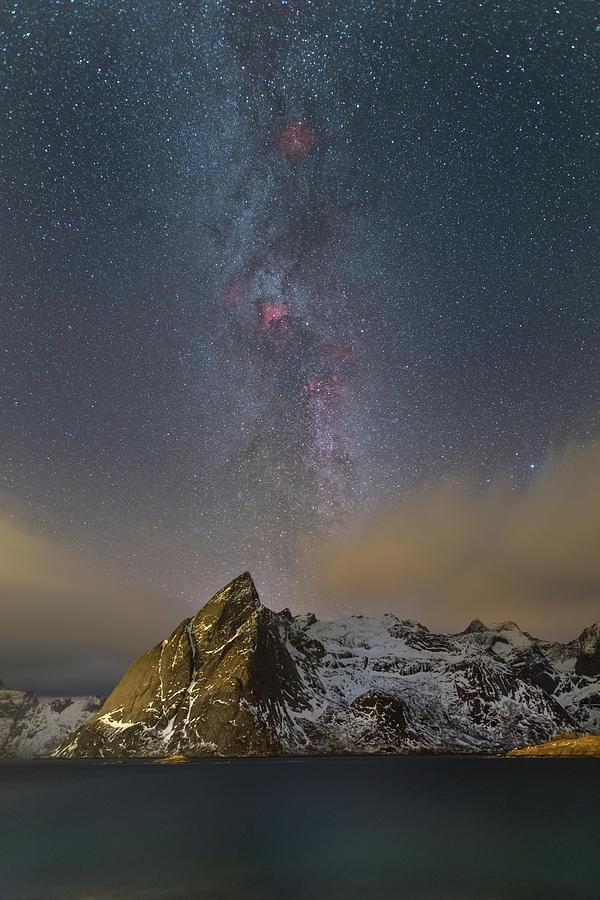 Lofoten Photograph - Milky Way In Lofoten by Alex Conu