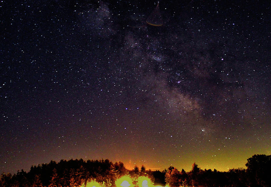 Stars Photograph - Milky Way, Moultonborough, Nh by Richard Griffis