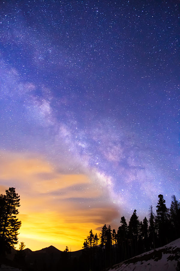 Milky Way Night To Day Photograph