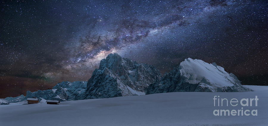 Mountains Photograph - Milky Way On Italian Dolomites by Pier Giorgio Mariani