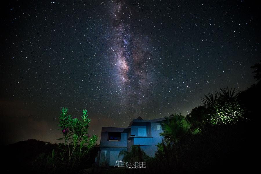 Vieques Photograph - Milky Way Over Casa Angular  by Karl Alexander