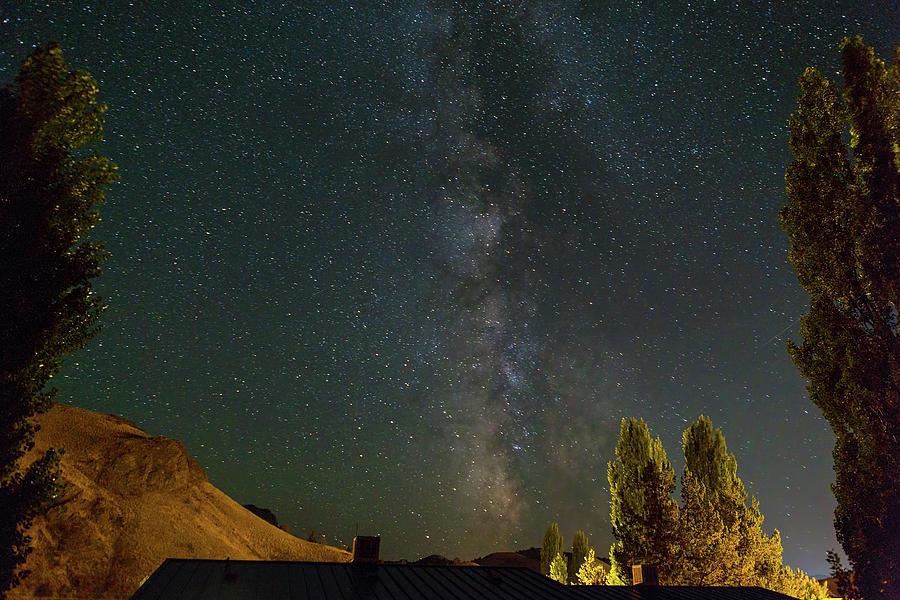 Starry Photograph - Milky Way Over Farmland In Central Oregon by David Gn