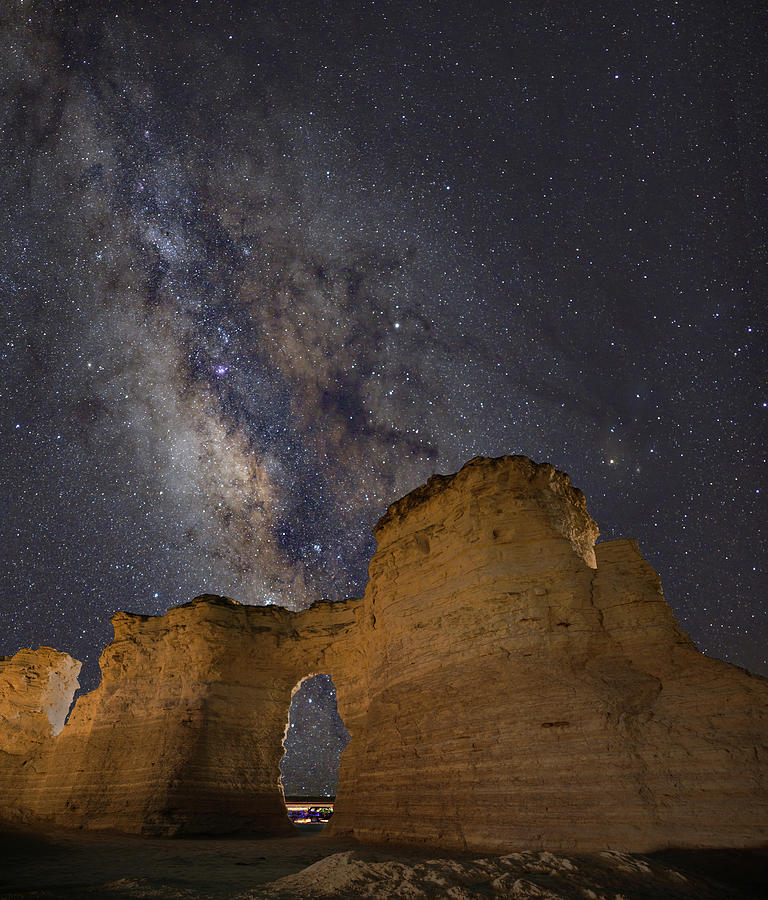 Milky Way Over Monument Rocks by Hal Mitzenmacher