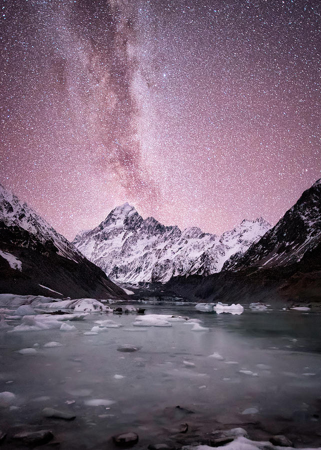 Outdoors Photograph - Milky Way Over Mt Cook by Tony Fuentes