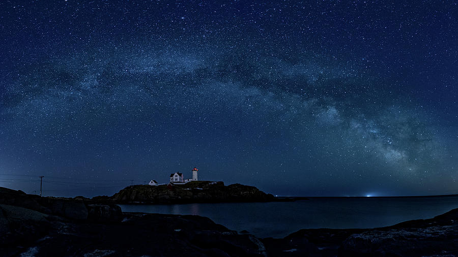 Milky Way over Nubble by Darryl Hendricks