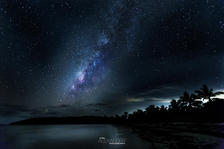 Landscape Photograph - Milky Way Over Playa Navio by Karl Alexander