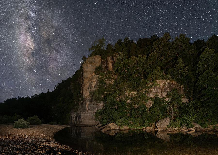 Milky Way Over Steel Creek  by Hal Mitzenmacher