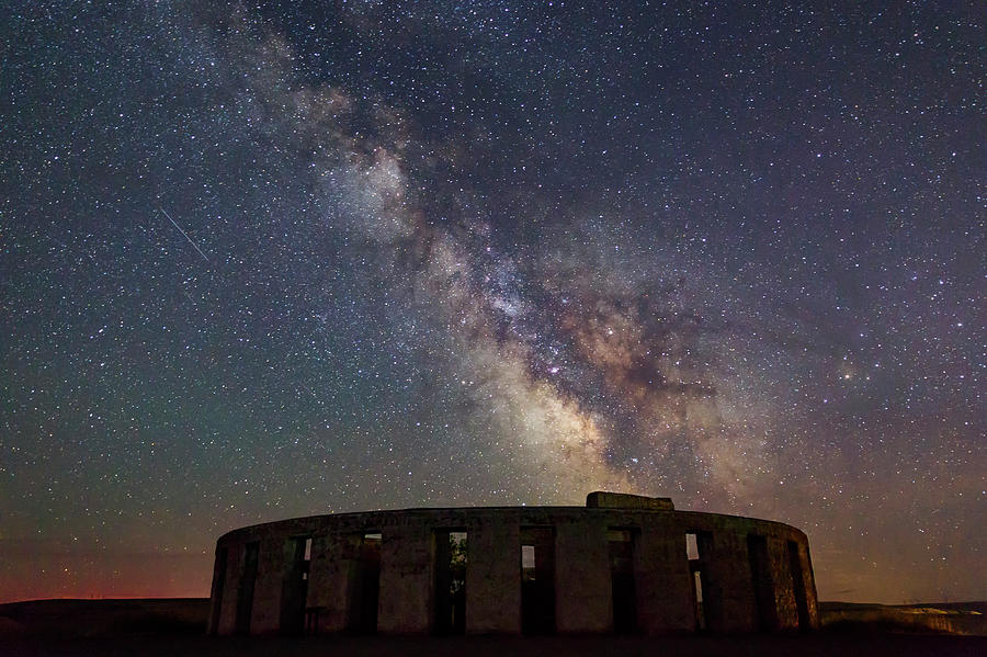 Night Photograph - Milky Way Over Stonehendge by Cat Connor