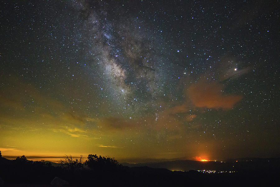 Milky Way Photograph - Milky Way Over Tenderfoot Fire by Jess Berry