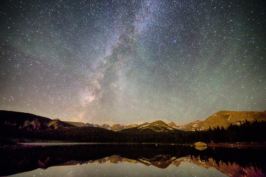 Milky Way Photograph - Milky Way Over The Colorado Indian Peaks by James BO Insogna