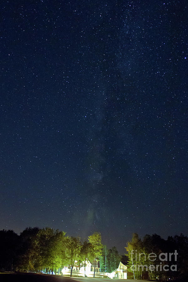 Milky Photograph - Milky Way Over Vics by Butch Lombardi