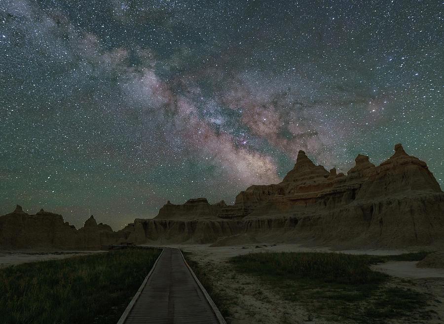 Milky Way Over Window Trail by Hal Mitzenmacher