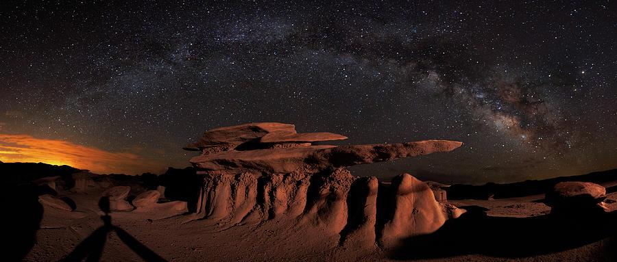 Milky Way Rainbow In The Bisti Badlands Photograph